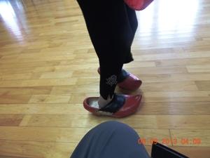 Japanska damer har ikke så store fødder som Julemanden !